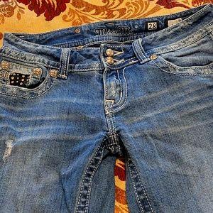 Missme Jean's studds and crystals on back pockets